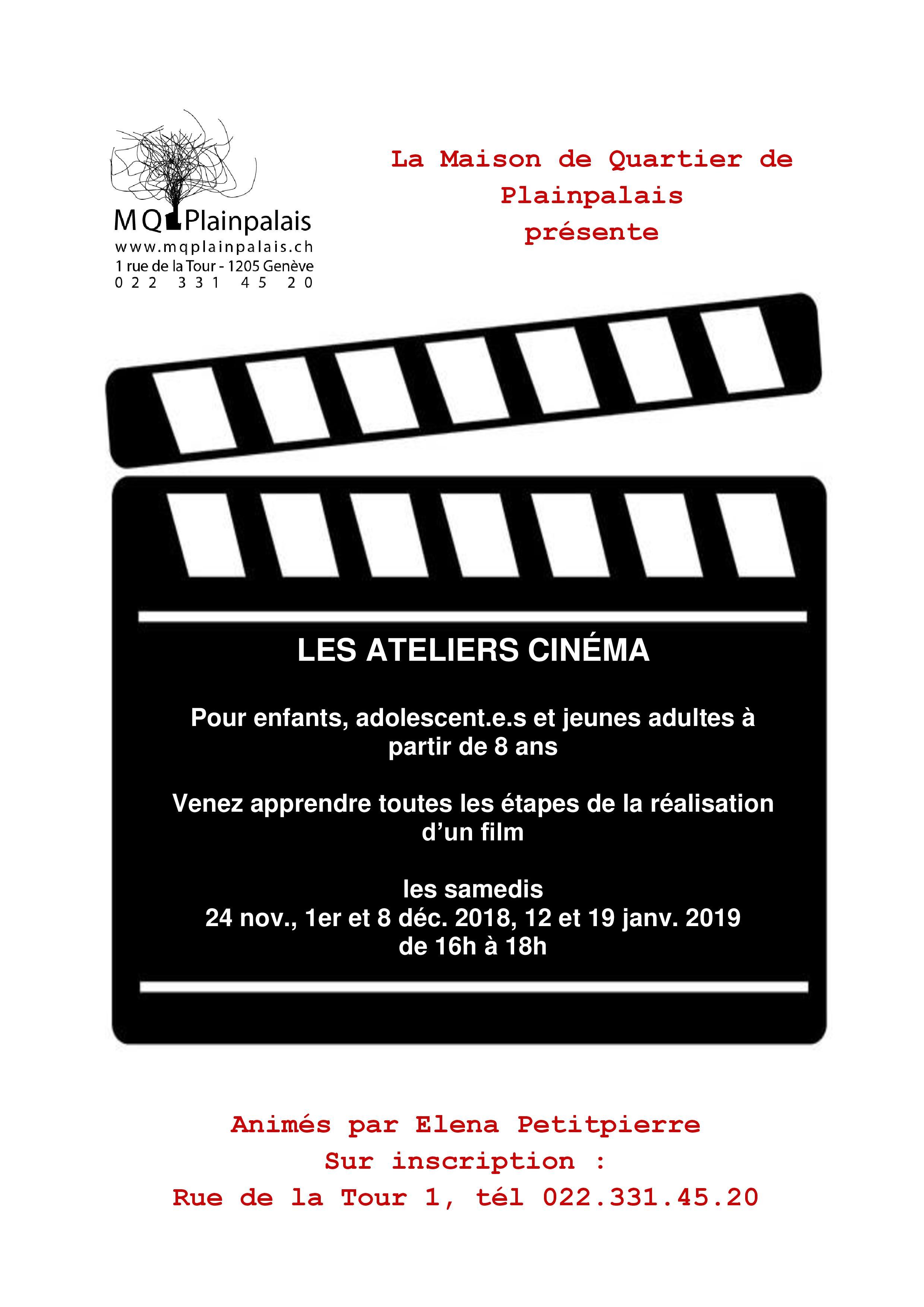 Flyers atelier cinéma