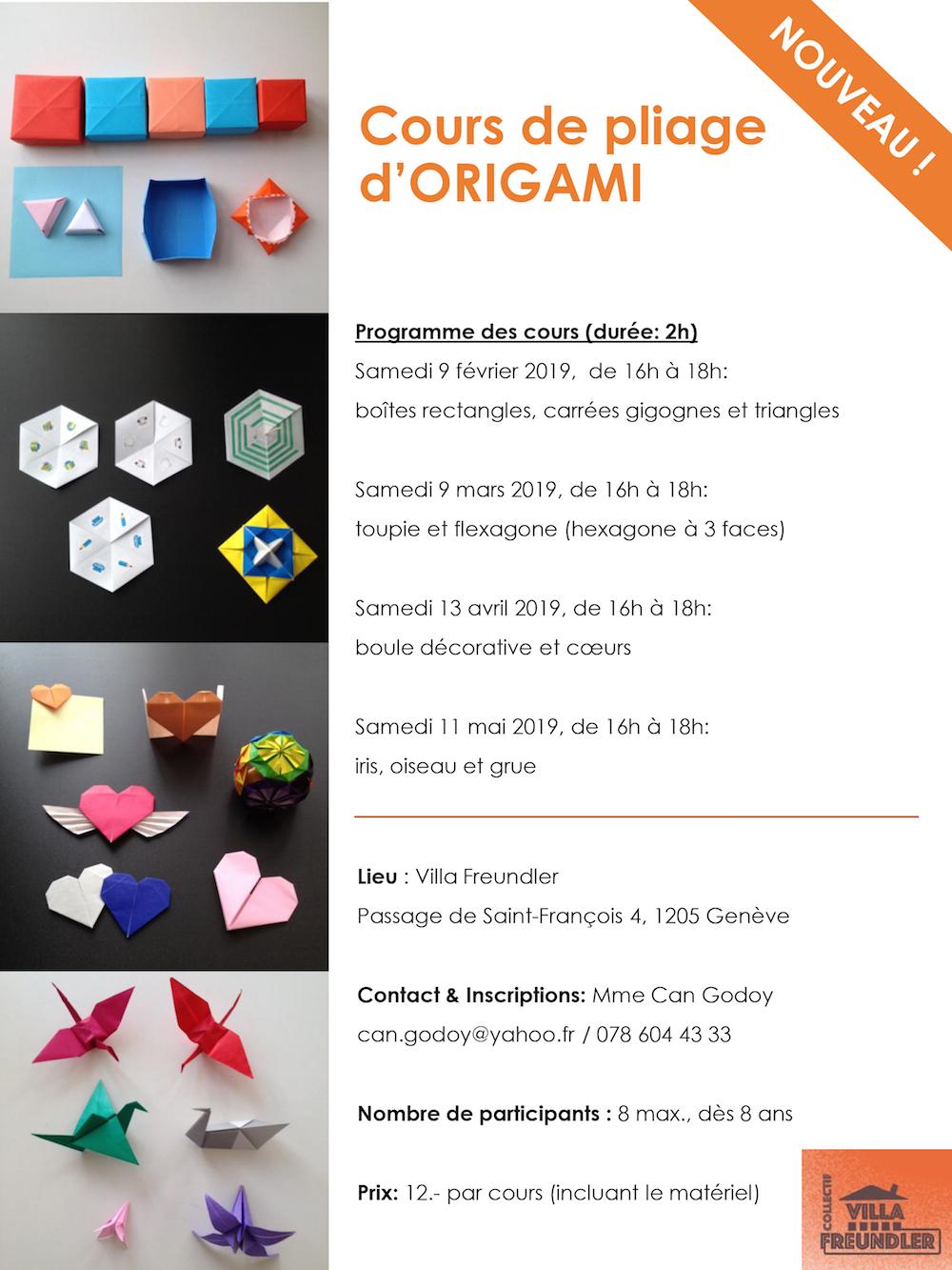 Cours de pliage d'origamis