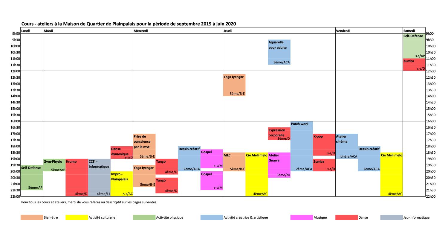 2019-2020_Planning-hebdomadaire-des-cours-à-la-MQP