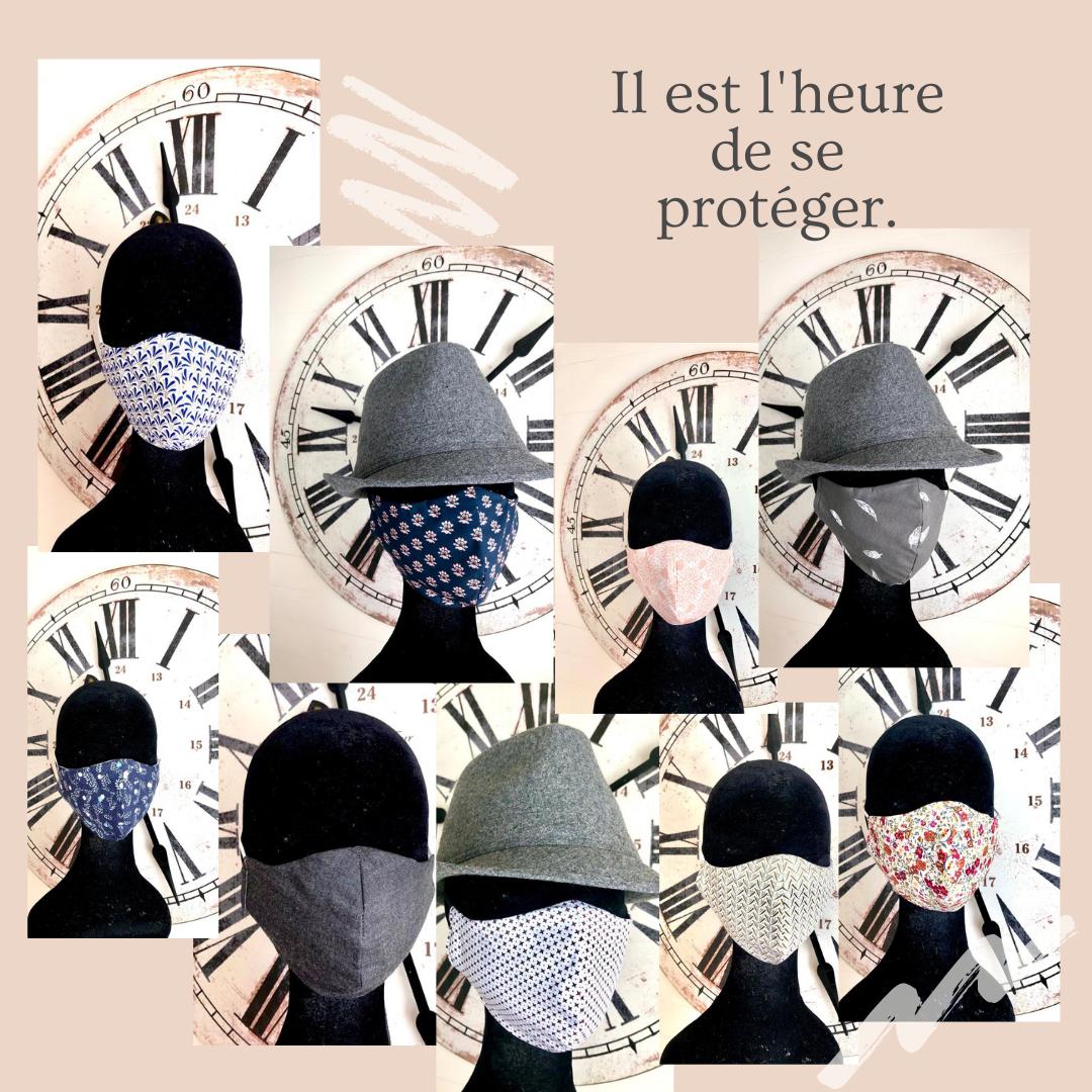 Hélène Bernard Weiss - Le Fil d'Hélène, accessoires textiles, masques
